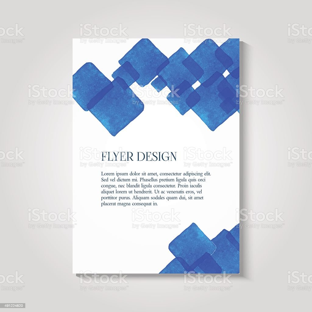 watercolor painted background design business corporate brochure