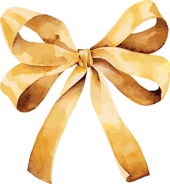 illustrazioni stock, clip art, cartoni animati e icone di tendenza di golden bow - mika
