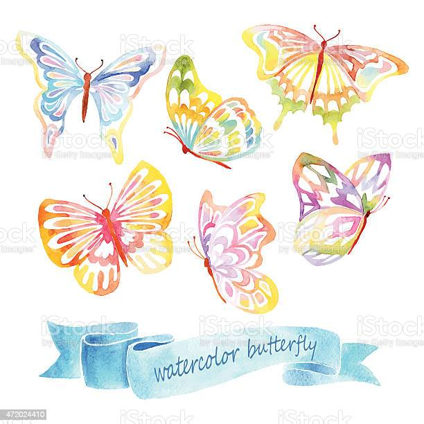 Watercolor paintings of small butterflies in many colors vector id472024410?b=1&k=6&m=472024410&s=612x612&h=hhbzqnv1bsmqdinlckv53mz1t3ox sb5y 949t1nkbu=