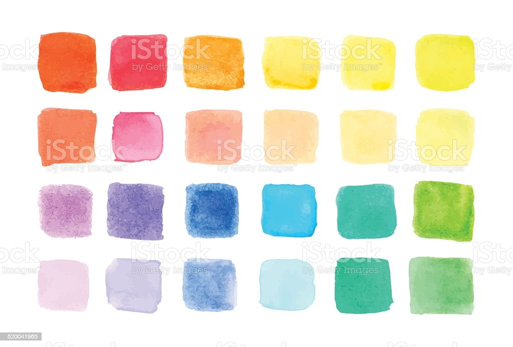 Watercolor paints palette, vector illustration vector art illustration