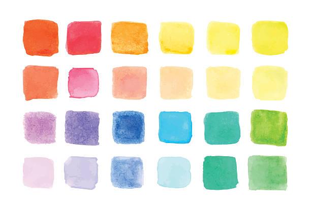 Aquarell Farben gehalten, Vektor-illustration – Vektorgrafik