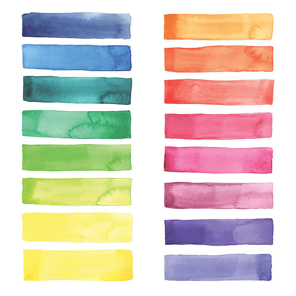 ウォーターカラーパレット - ブラシ点のイラスト素材/クリップアート素材/マンガ素材/アイコン素材