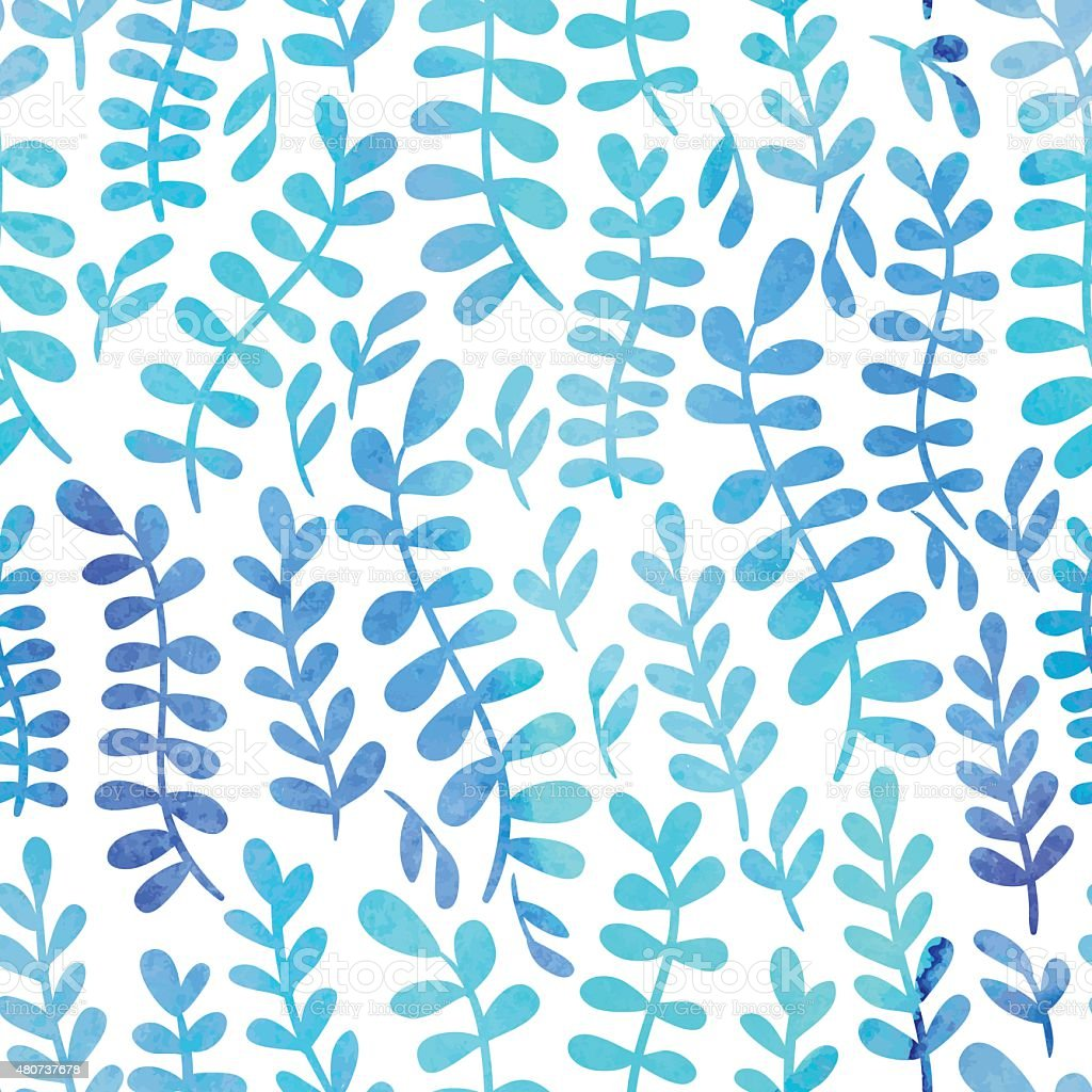 Watercolor pattern vector art illustration