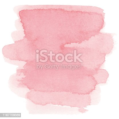 istock Watercolor pink background 1167709359