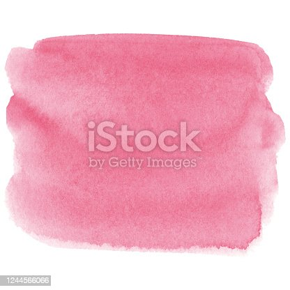 istock Watercolor pink background 1244566066