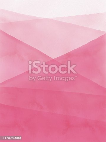 Watercolor Pink Gradient Abstract Background.