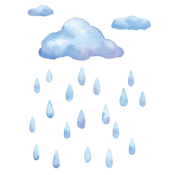 水彩レイン - 雨点のイラスト素材/クリップアート素材/マンガ素材/アイコン素材