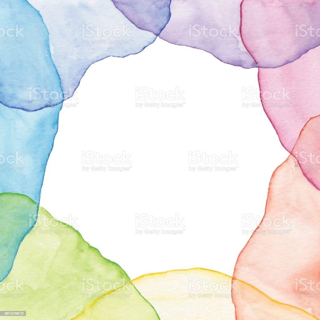 Aquarell Regenbogen Rahmen Stock Vektor Art und mehr Bilder von ...