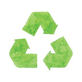 Vector illustration of recycling symbol.