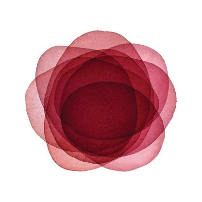 Acuarela rojo fondo de la flor abstracta