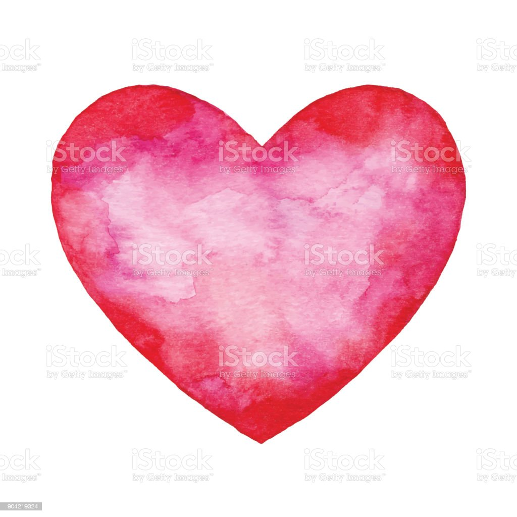 Watercolor Red Abstract Heart royalty-free watercolor red abstract heart stock vector art & more images of abstract