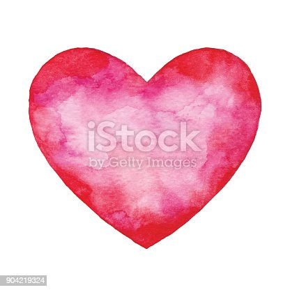 istock Watercolor Red Abstract Heart 904219324