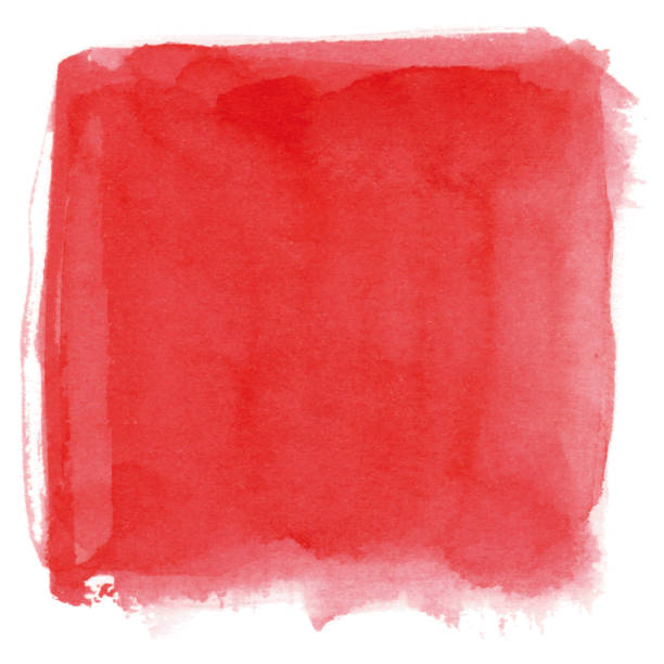Watercolor red background vector art illustration