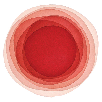 Watercolor Red Background With Circles