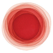 istock Watercolor Red Background With Circles 1209888041