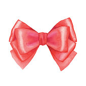 istock Watercolor Red Bow 1191659611