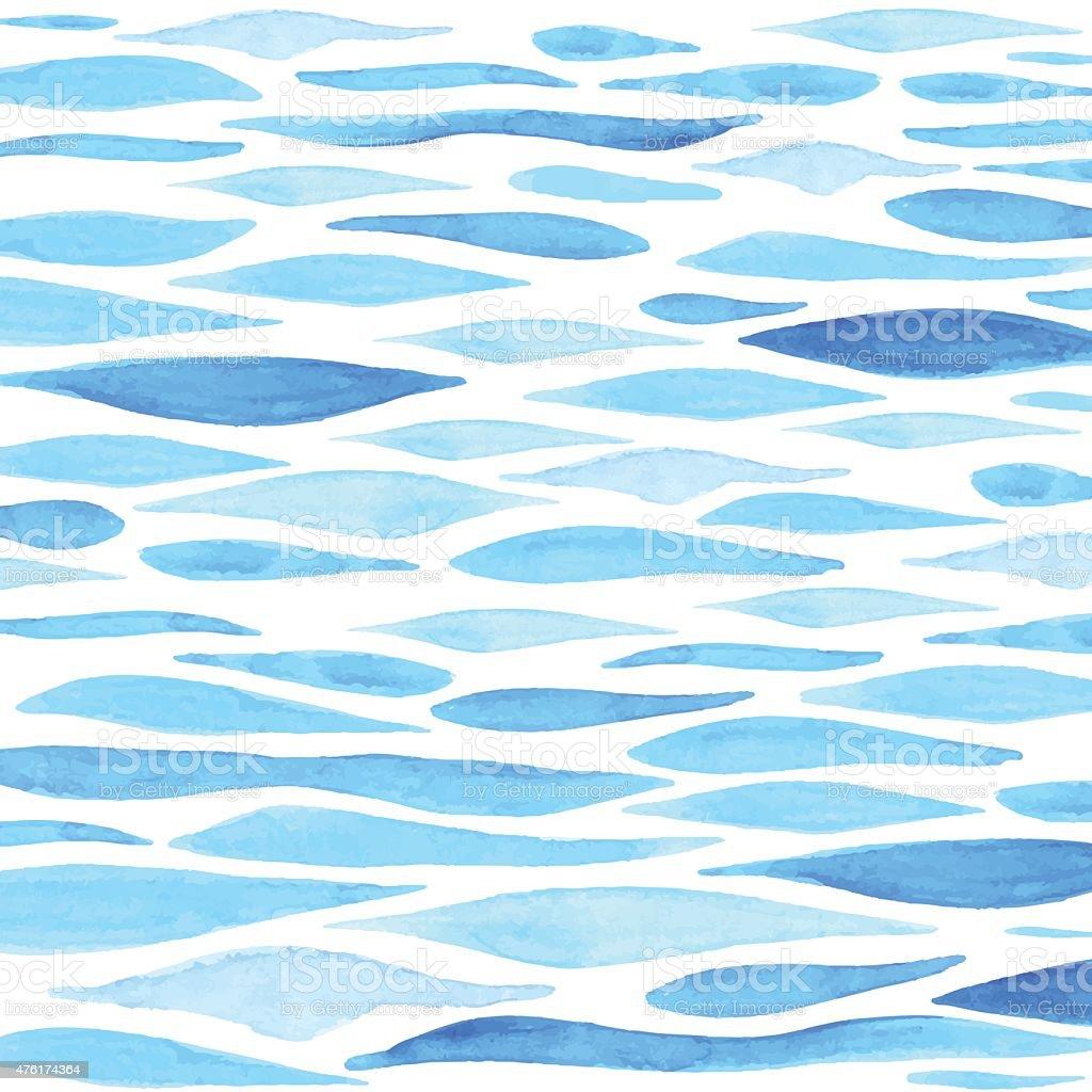 水彩海を背景に ベクターアートイラスト