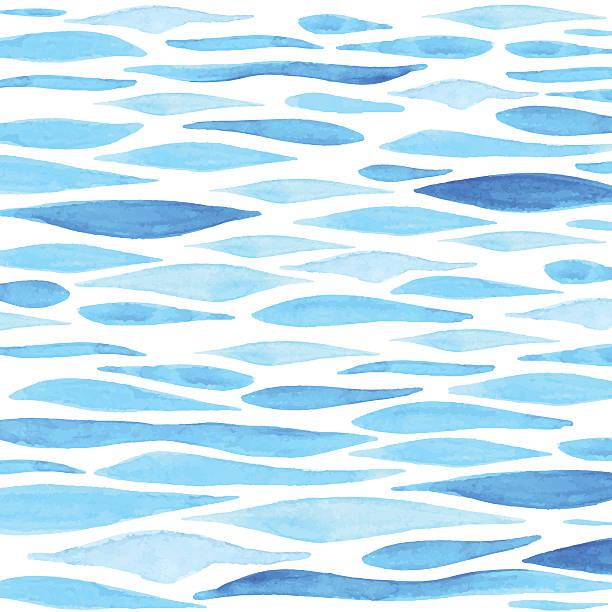水彩海を背景に - 夏点のイラスト素材/クリップアート素材/マンガ素材/アイコン素材