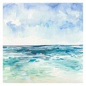 Watercolor Sea background
