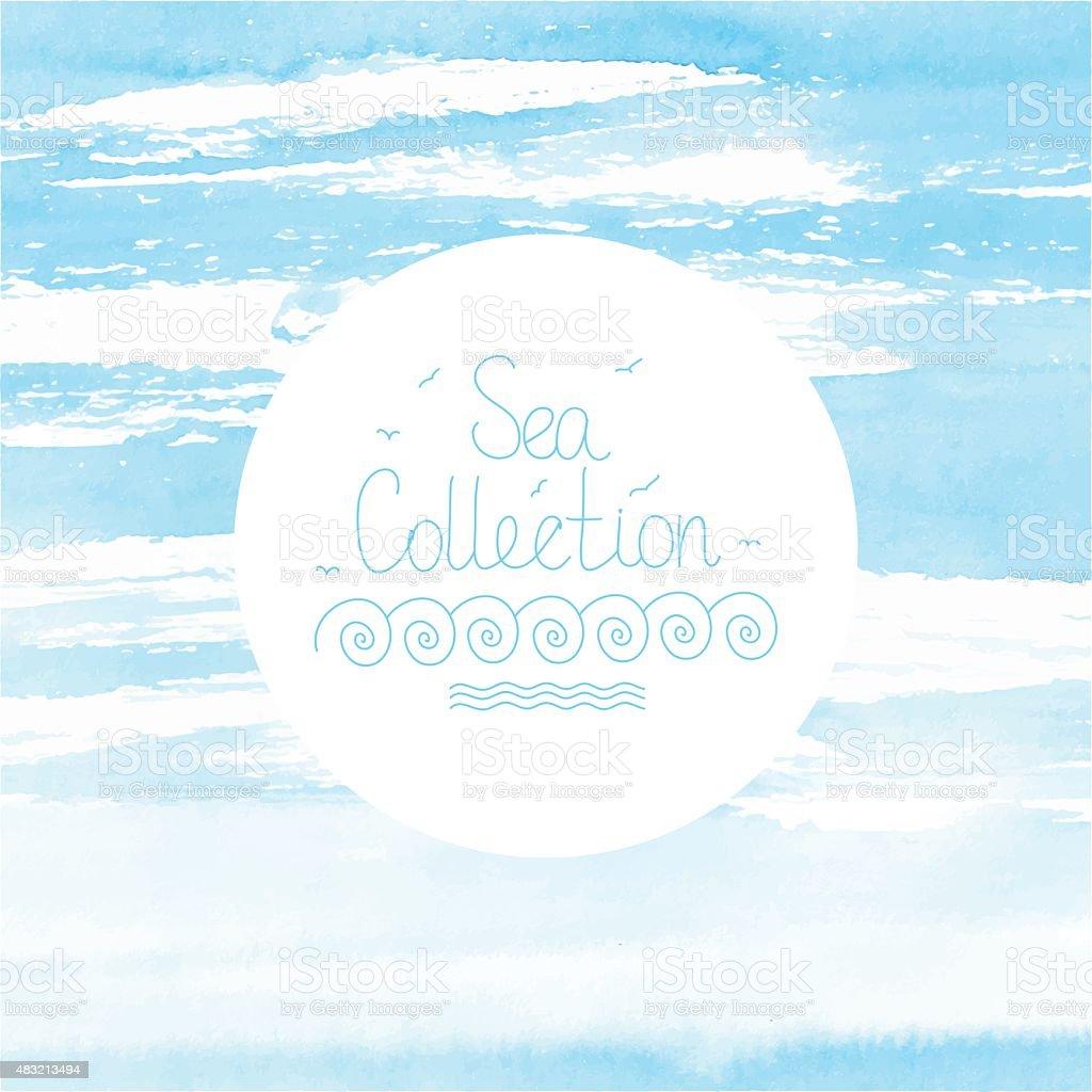 水彩海や空の背景 のイラスト素材 483213494 | istock