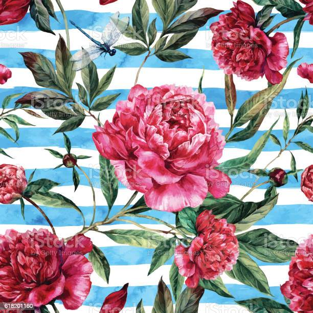 Watercolor seamless pattern of pink peonies and green leaves vector id618201160?b=1&k=6&m=618201160&s=612x612&h=zqbpjymod4m9p8faefl1opbm5wc3ahzqtvfsc4oniia=