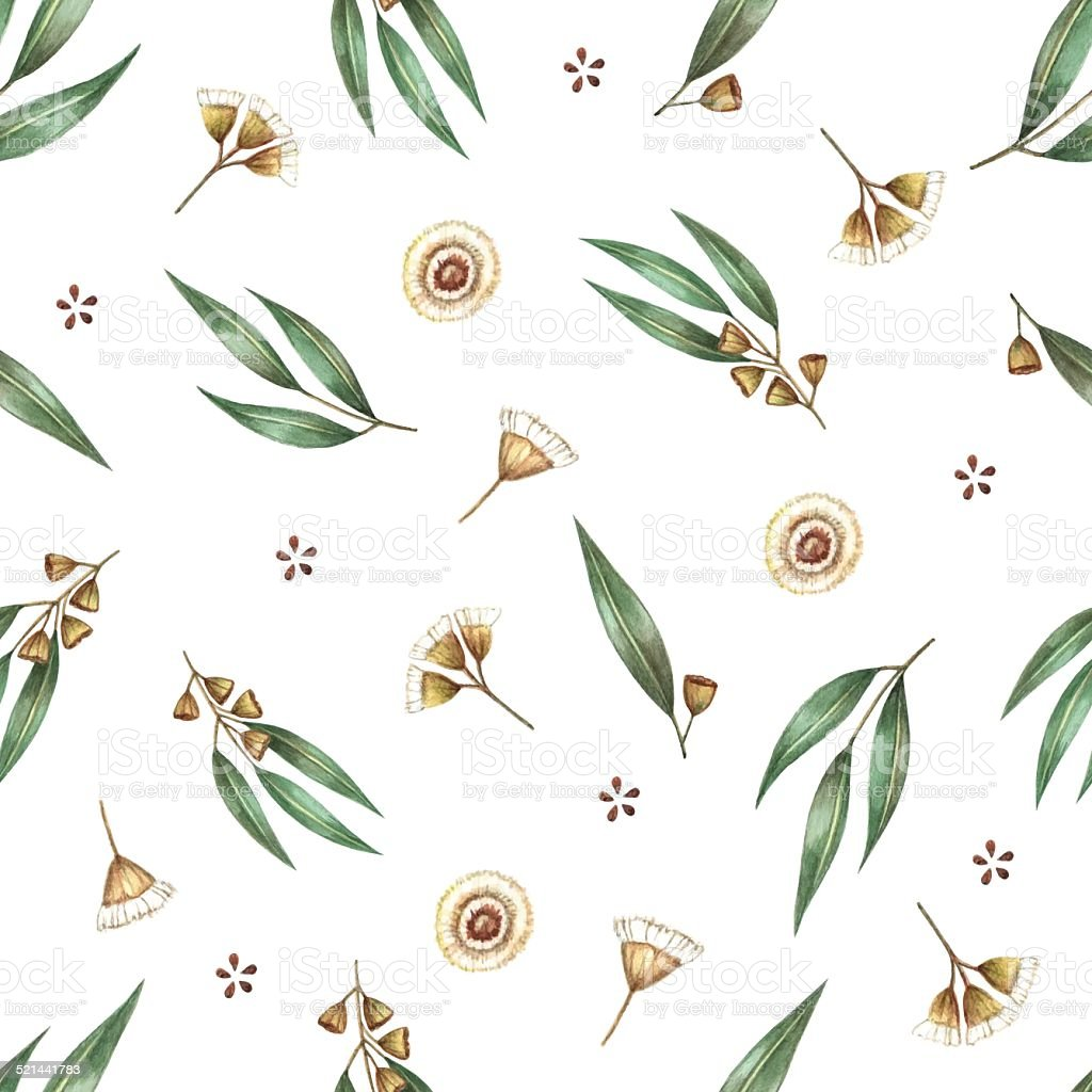 Watercolor seamless pattern. vector art illustration