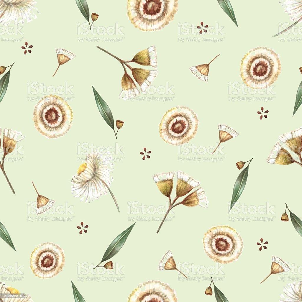 Watercolor seamless pattern. vector art illustration