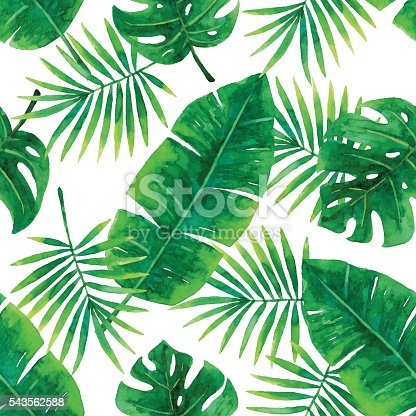 Vector illustration of tropical pattern.