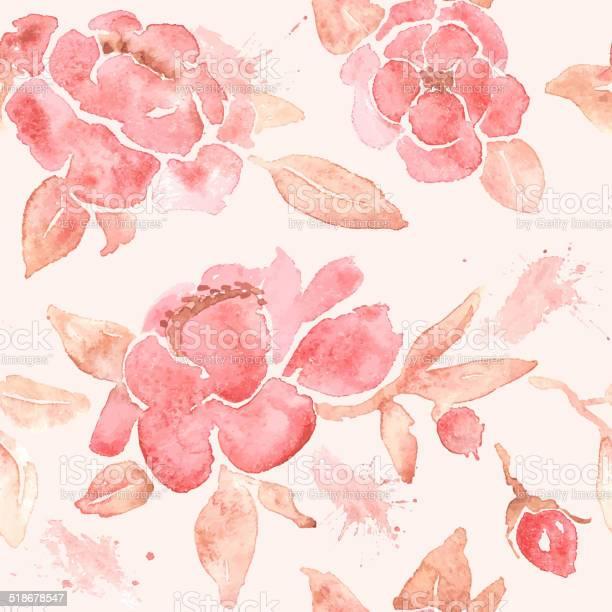 Watercolor seamless wallpaper with peony flowers in vector vector id518678547?b=1&k=6&m=518678547&s=612x612&h=byaspg3yr46rc7ckhk34cbeijyvtvs8jdz9n 0tl  m=