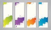 Vector illustration of Watercolor set