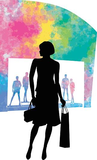 Watercolor Shopping Models