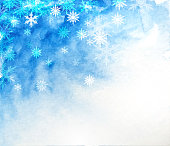 winter sky landscape snowing painted background