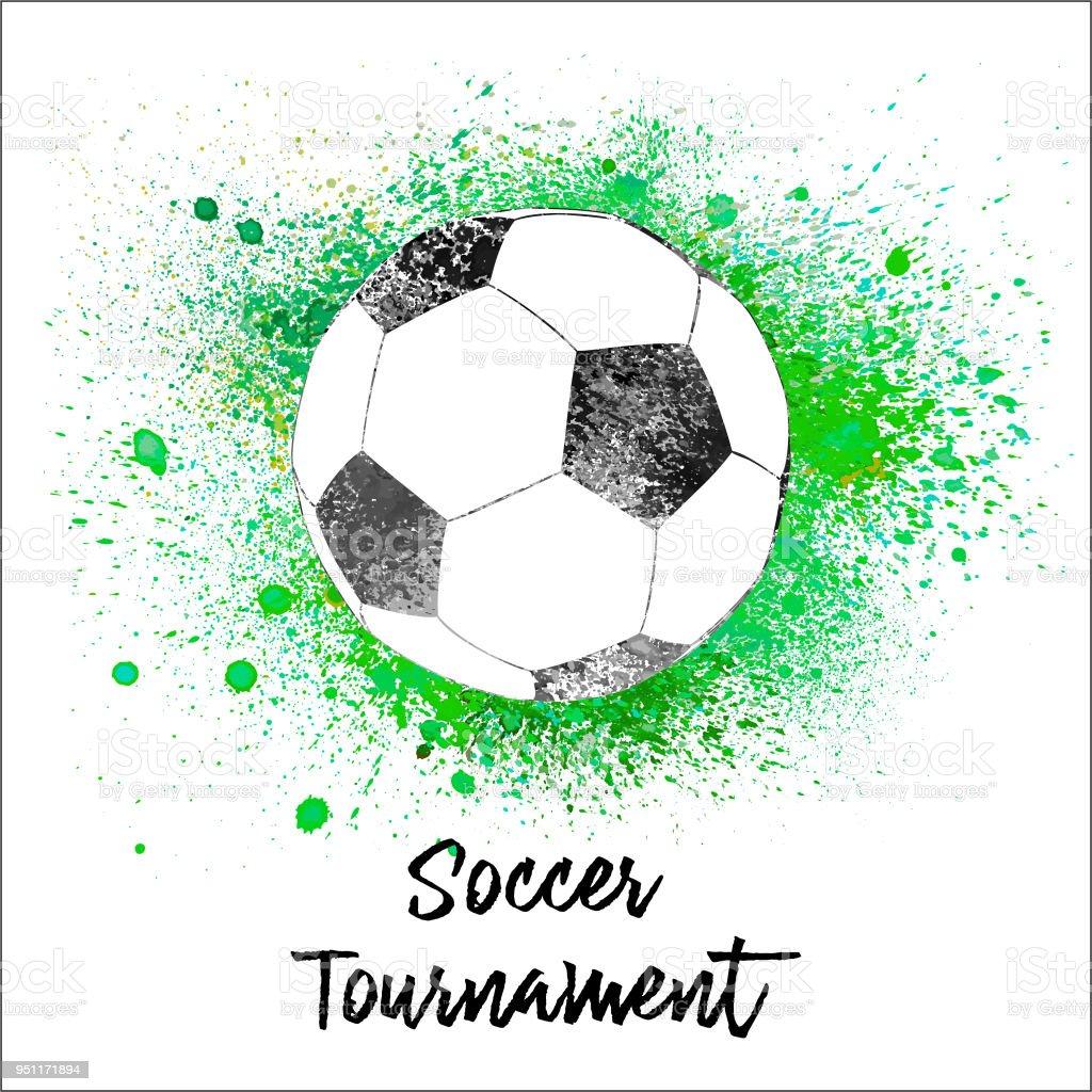 Suluboya Futbol Topu Stok Vektör Sanatı Abdnin Daha Fazla Görseli