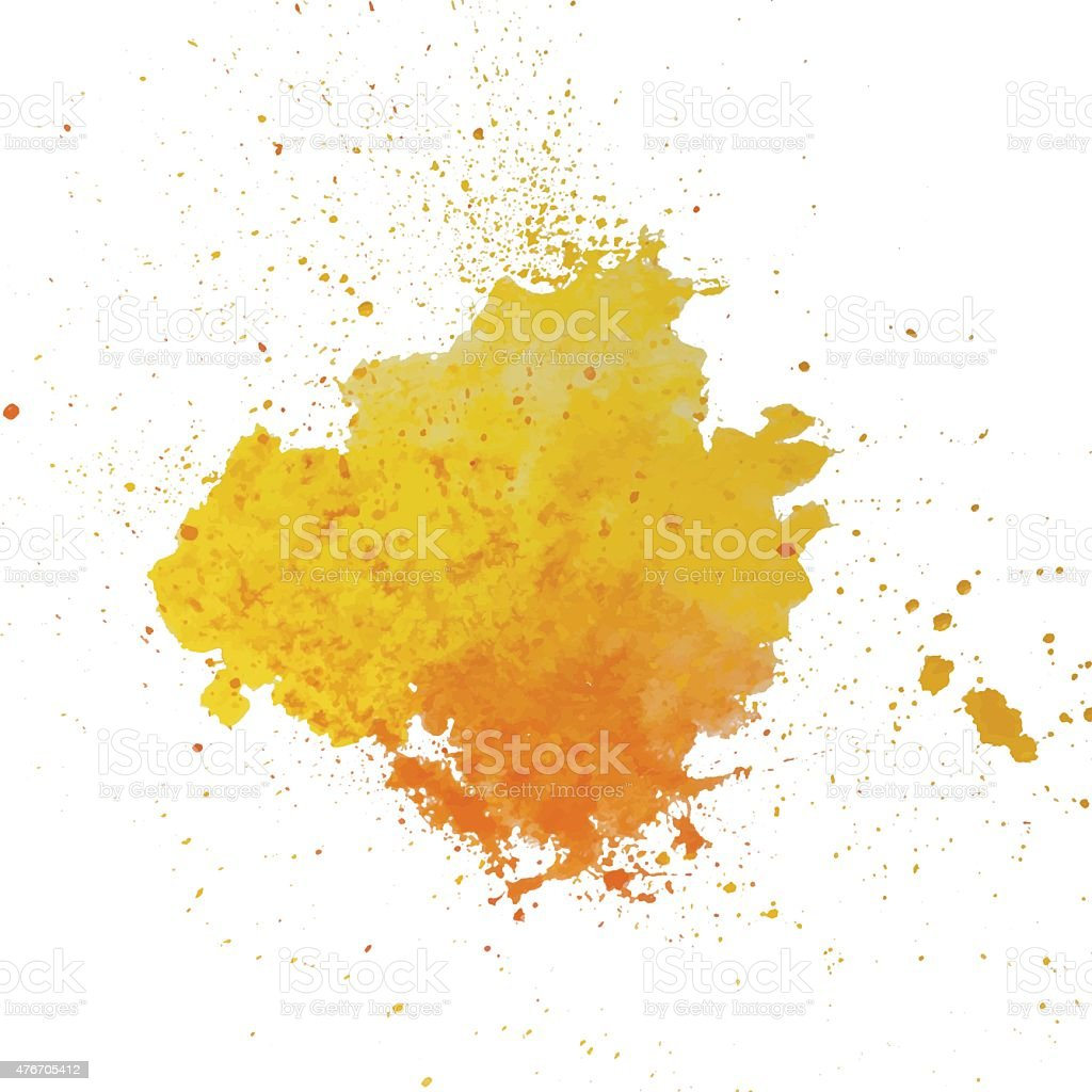 Watercolor splash vector art illustration