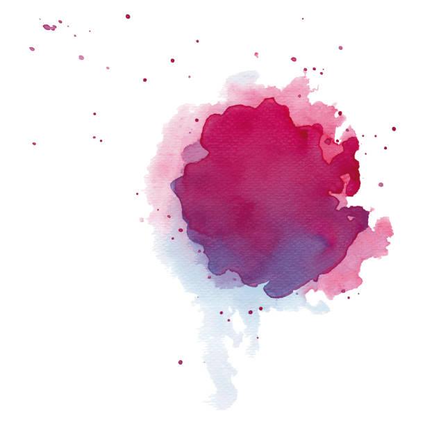 Watercolor splash vector art illustration
