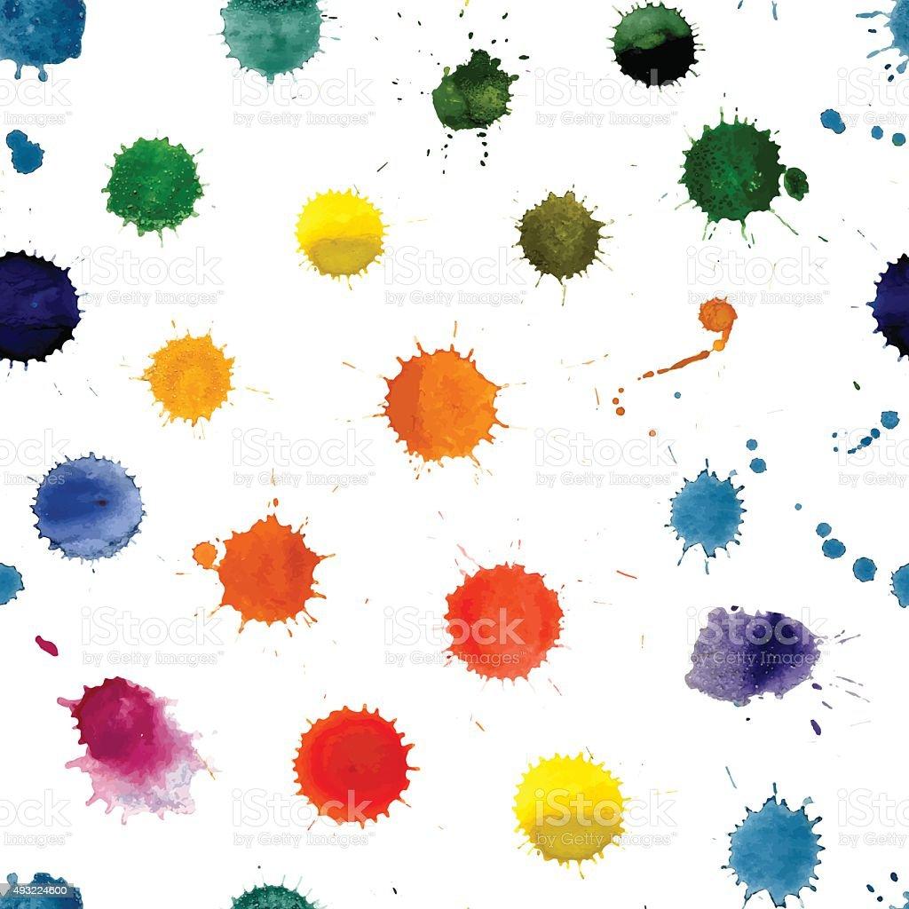 Watercolor Splashes Pattern vector art illustration