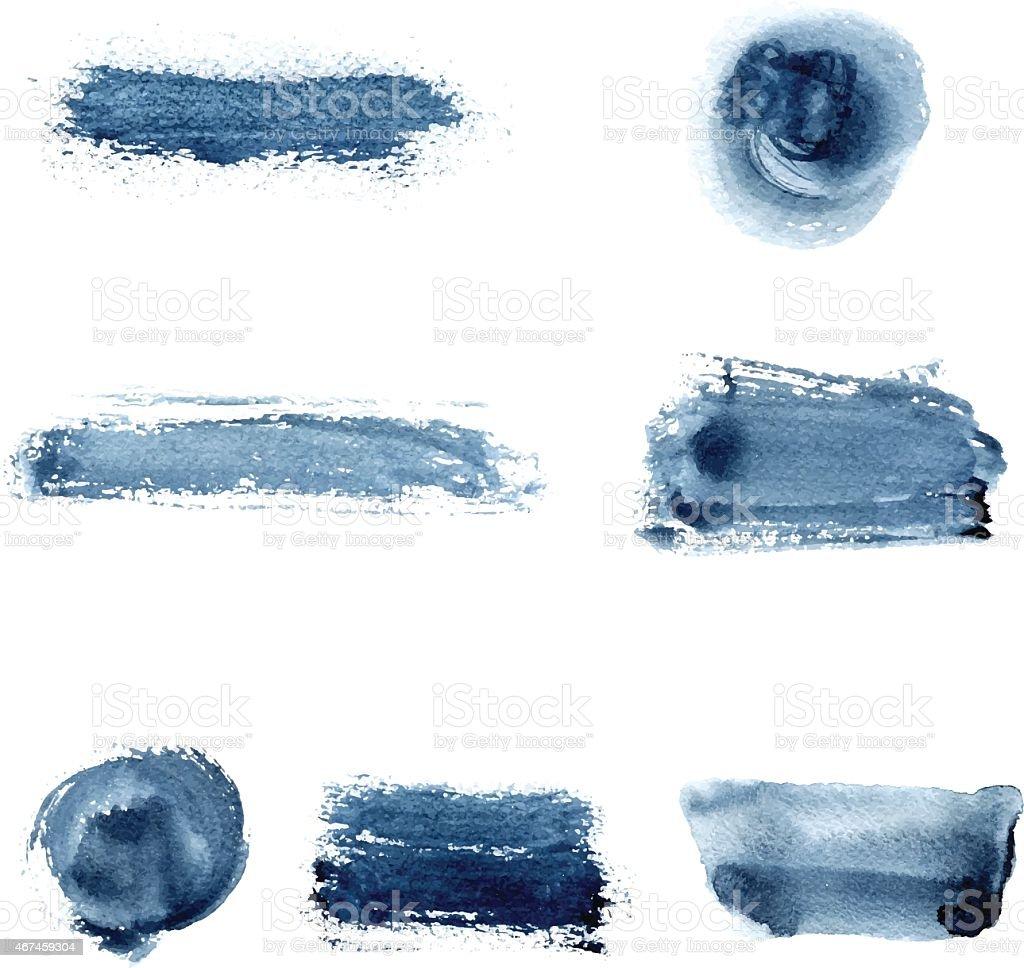 Watercolor spots vector art illustration