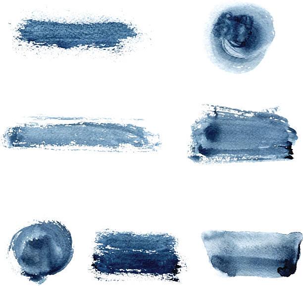 watercolor spots - 海軍藍 幅插畫檔、美工圖案、卡通及圖標