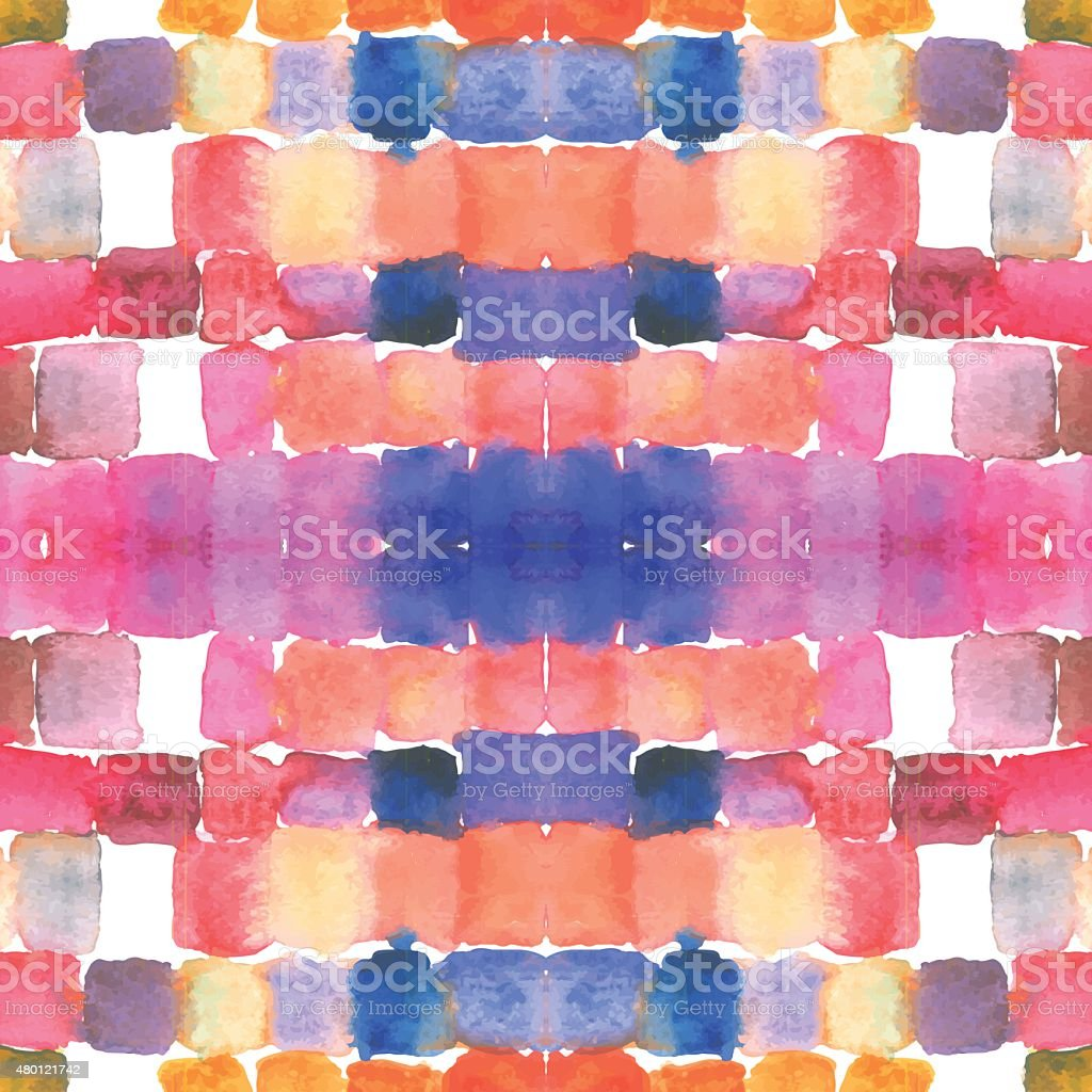 Watercolor stain glass background vector art illustration