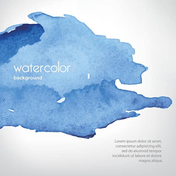 watercolor stain in vector - 海軍藍 幅插畫檔、美工圖案、卡通及圖標