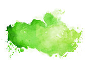 istock watercolor stain texture in green color shade 1206557381