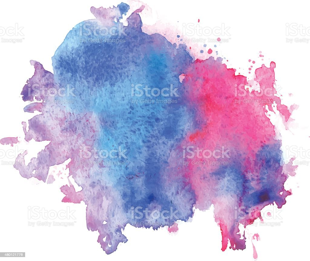 Watercolor stain vector art illustration