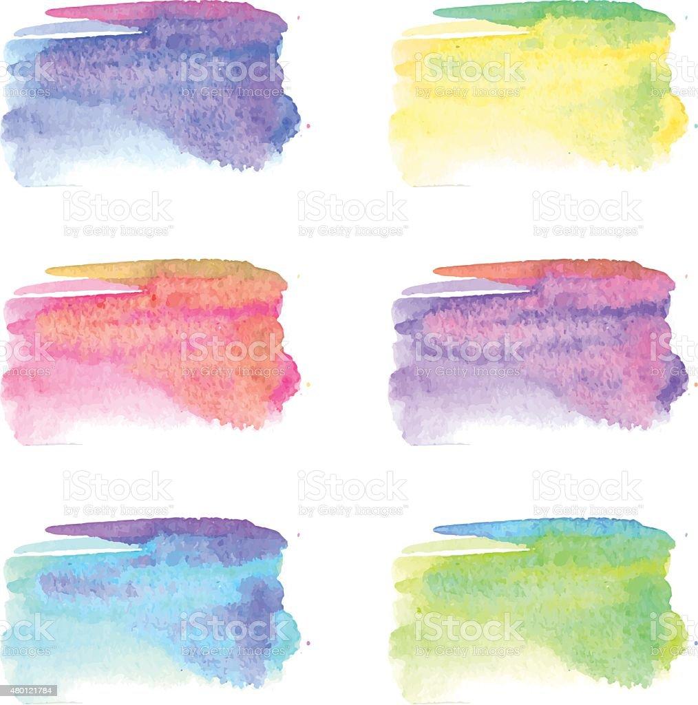 Watercolor stain vector art illustration