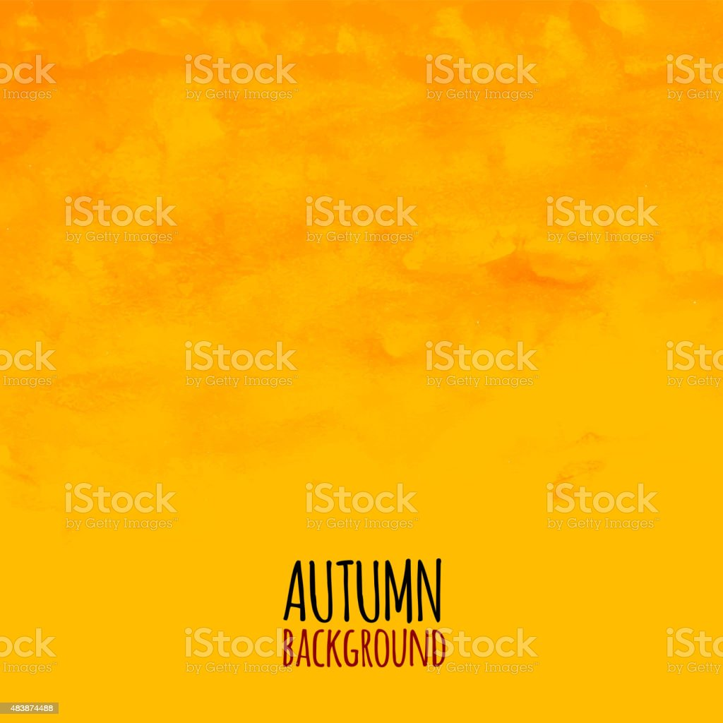 Watercolor striped radiant pattern, yellow orange and red colors vector art illustration