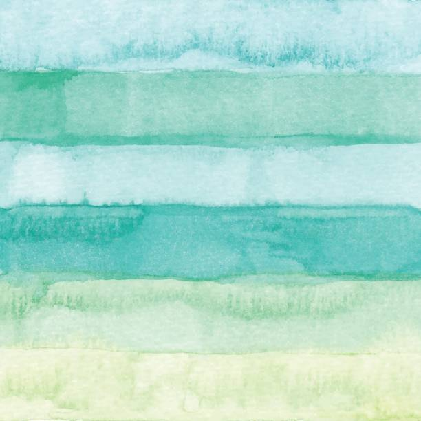 watercolor stripes background green - pastel colored stock illustrations, clip art, cartoons, & icons