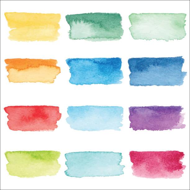 Coup de pinceau aquarelle - Illustration vectorielle