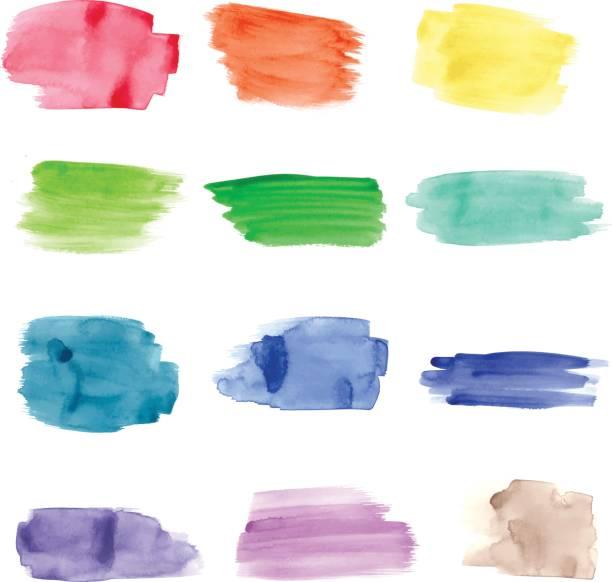 Watercolor Strokes - Illustration vector art illustration