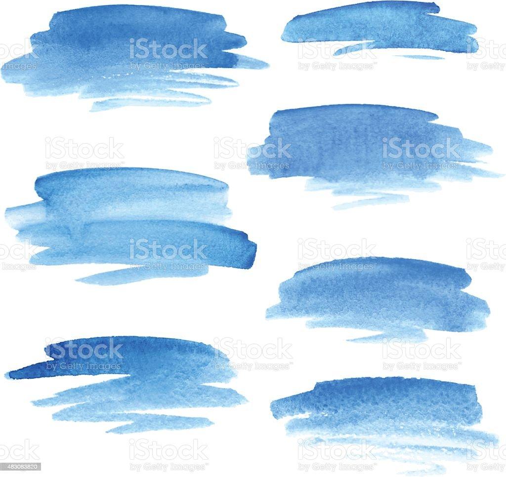 Watercolor accidentes cerebrovasculares - ilustración de arte vectorial
