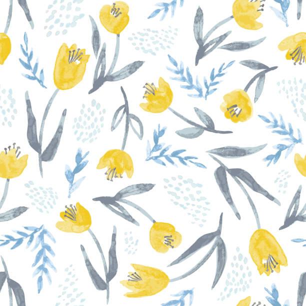 水彩風花のベクトルの背景 - ボタニカル点のイラスト素材/クリップアート素材/マンガ素材/アイコン素材