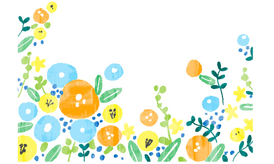 Watercolor style hand drawn illustration vector